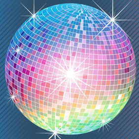 Colourful Disco Ball - Kostenloses vector #209511