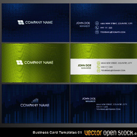 Vector Business Card Templates 01 - бесплатный vector #209581