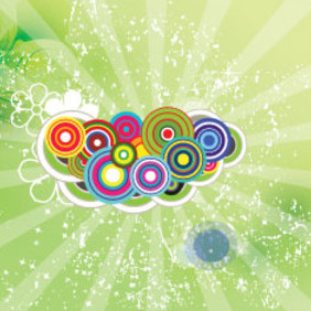 Colored Circled Green Dotted Vector - vector gratuit #209861