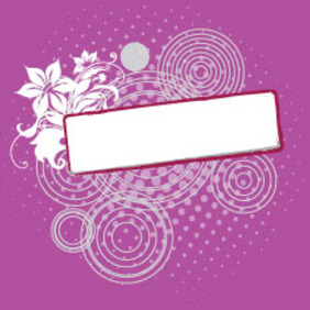 Floral Banner In Purple Background - Free vector #209911