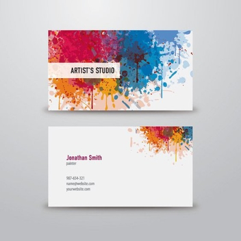 Artist Business Card - vector #209961 gratis