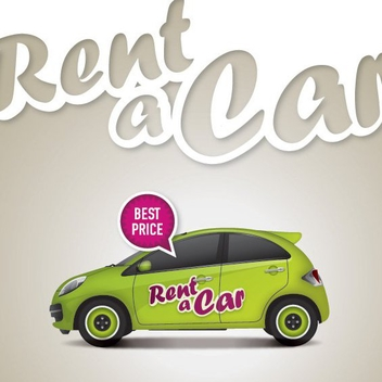 Rent A Car - vector #209971 gratis