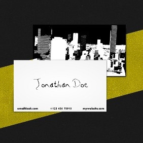 Urban Business Card Template - Free vector #210111