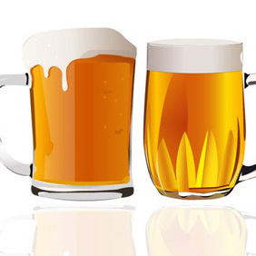 Pints Of Beer - Free vector #210161