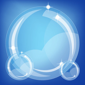 Blue Bubbles Vector - vector gratuit #210221