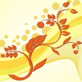 Yellow Floral Background - vector gratuit #210281