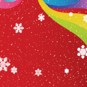 Snow In Red Colored Background Free Vector - Free vector #210421
