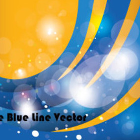 The Blue Line In Orange Background - Kostenloses vector #210581