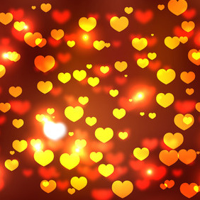 Valentine's Day Background With Hearts - vector gratuit #210611