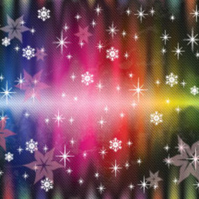 Colored Lines Snowy Stars Free Art Vector - Free vector #210631