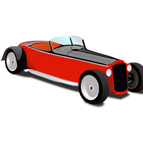 Hot Rod Coupe Vector - vector gratuit #210701