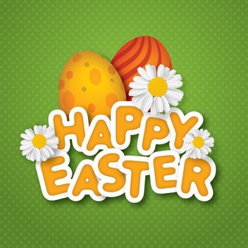 Happy Easter Background - vector gratuit #210751