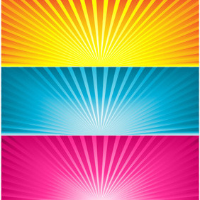 Three Sunbeam Banners - Free vector #210831