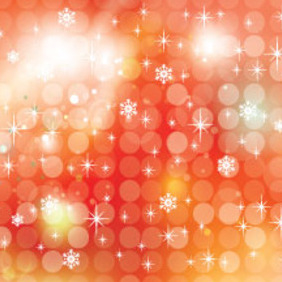 Orange Transprent Snowy Art Free Vector - vector #210881 gratis