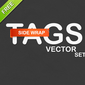 Vector Side-wrap Tags - Free vector #210901