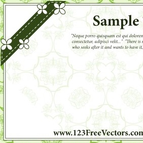 Wedding Greeting Card Vector - vector gratuit #210911