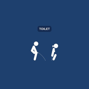Toilet Signs - vector #210921 gratis