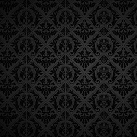 Black Retro Pattern Background - vector gratuit #210931