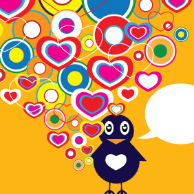 Valentine Bird In Love - vector #211001 gratis