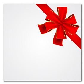 Red Vector Gift Ribbon - vector #211021 gratis