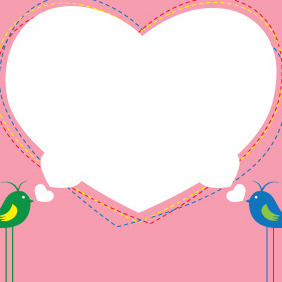 Valentines Day Heart Banner - Free vector #211051