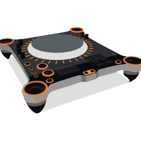 Dj Turntable - Free vector #211091
