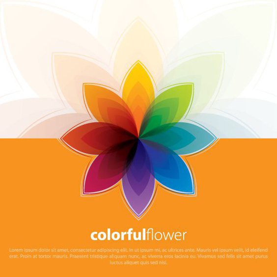Colorful Flower - Free vector #211101