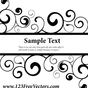 Vector Ornate Swirl Banner - бесплатный vector #211211
