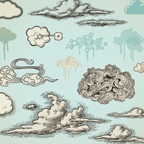 Cloud Vectors Collection - Free vector #211511