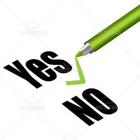 Yes And No Text - vector #211521 gratis