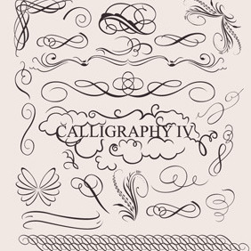 Caligraphy Design Elements - vector #211561 gratis