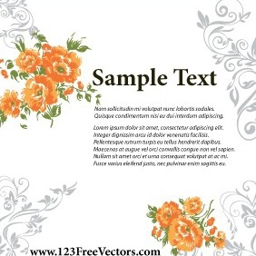 Wedding Invitation Card Design - vector gratuit #211681