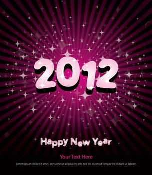 New Year Poster 2012 - vector gratuit #211751