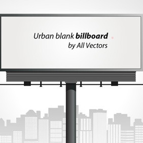 Blank Billboard - vector gratuit #211771