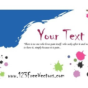 Colorful Paint Stains Greeting Card - Free vector #211831