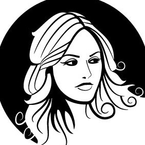 Beautiful Girl Vector - vector gratuit #211891