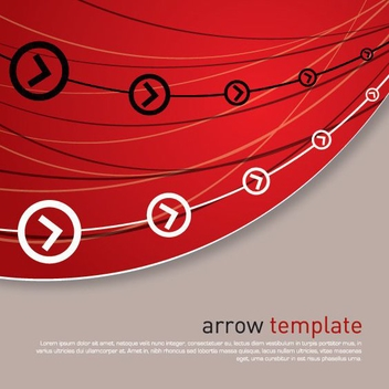 Arrow Template - vector gratuit #212021
