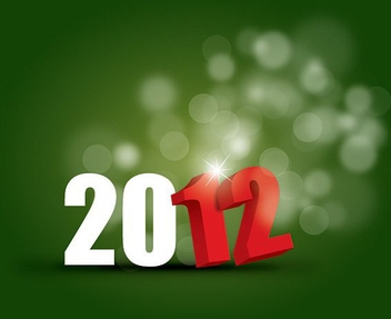New Year 2012 - vector gratuit #212091