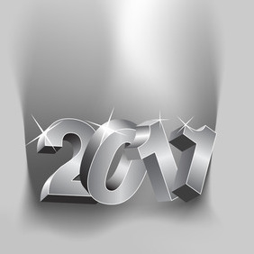 New Year Numbers 2012 - vector #212151 gratis