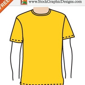 Apparel Men's Blank T-shirt Template Free Vector - Kostenloses vector #212231
