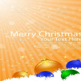 Merry Christmas Card With Stripes Background - vector gratuit #212291