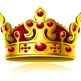 Vector Golden Crown - vector #212391 gratis