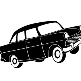 Retro Car Model Vector - Free vector #212501