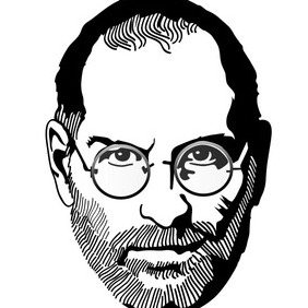 Steve Jobs Vector Portrait - vector gratuit #212521