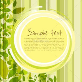 Natural Card - Free vector #212541