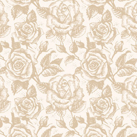 Retro Rose Pattern - Free vector #212571