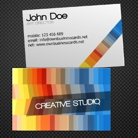 Creative Business Card Template - Free vector #212601