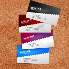Standard Business Card Template - vector gratuit #212631