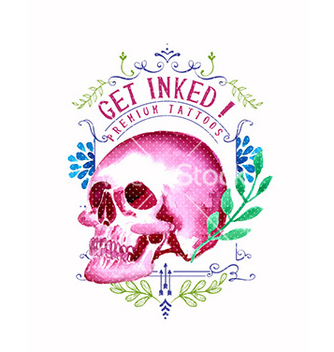 Free watercolor with skull vector - vector gratuit #212641