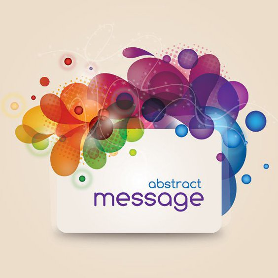 Abstract Message - Free vector #212801